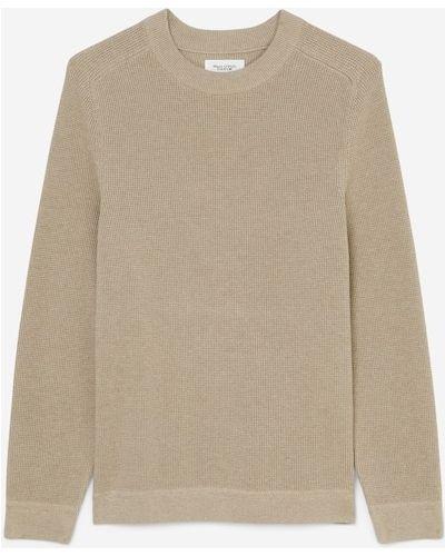 Sweter w paski - beżowy Marc O Polo