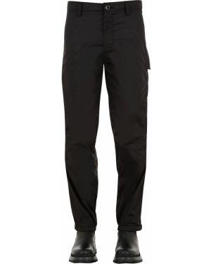Czarne spodnie z nylonu asymetryczne Haervaerk
