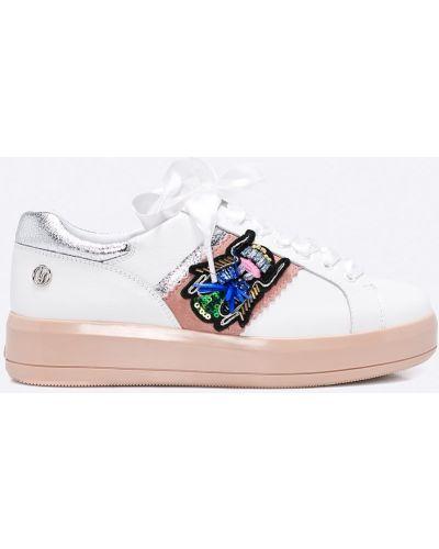 Белые кроссовки на платформе Liu Jo