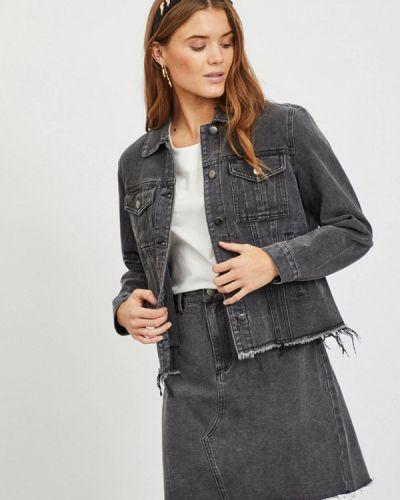 Серая джинсовая куртка Vila