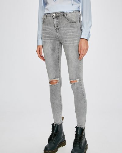 Серые джинсы-скинни Answear
