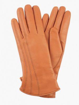 Оранжевые кожаные перчатки Edmins
