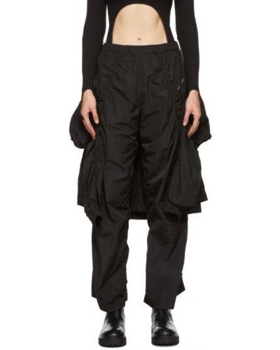 Брючные черные нейлоновые брюки с карманами Hyein Seo