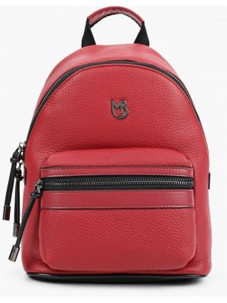 Красный городской рюкзак из натуральной кожи Marco Bonne