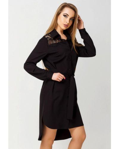 Черное платье весеннее Leo Pride