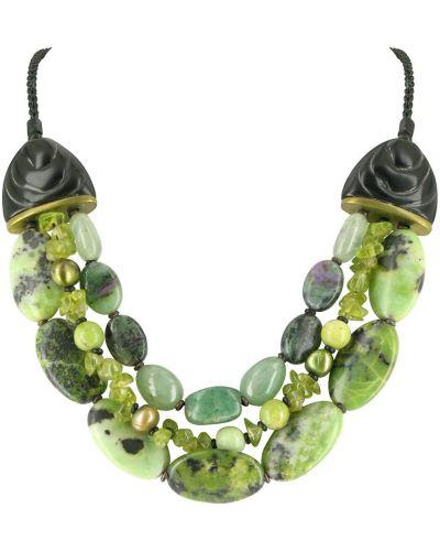 Ожерелье черное зеленый Nature Bijoux