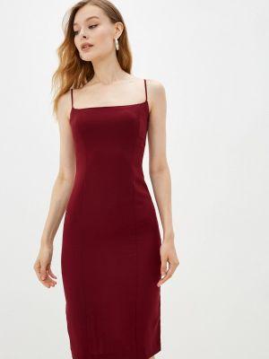 Платье футляр - бордовое Moru