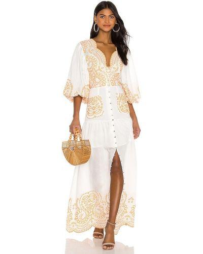 Хлопковое платье макси - белое Keepsake