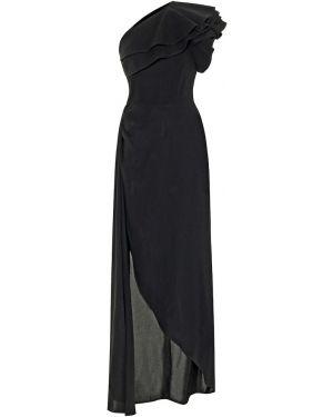 Платье черное асимметричное Elie Saab
