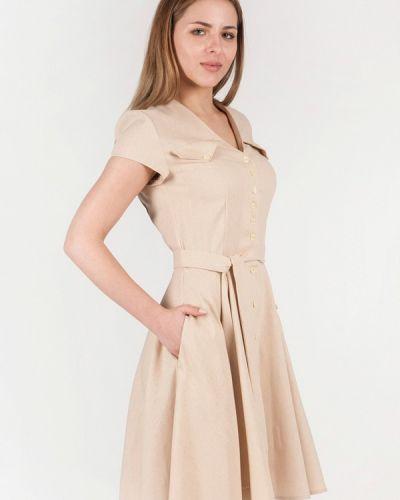 Бежевое платье весеннее Vergans