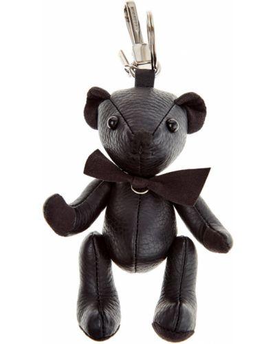 Брелок кожаный черный Burberry