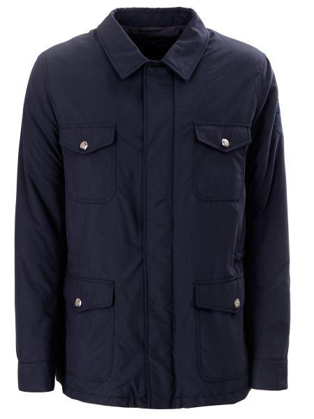 Классическая синяя куртка на молнии с воротником Billionaire