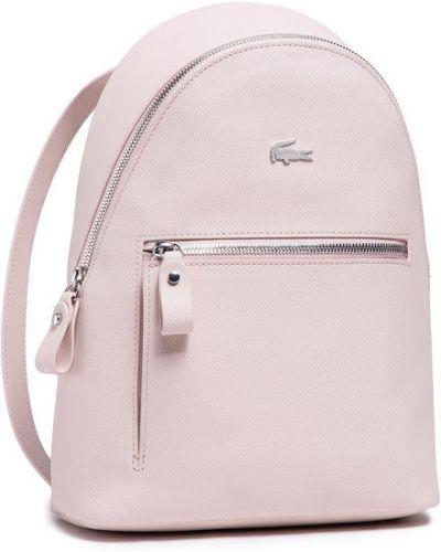 Różowy plecak Lacoste