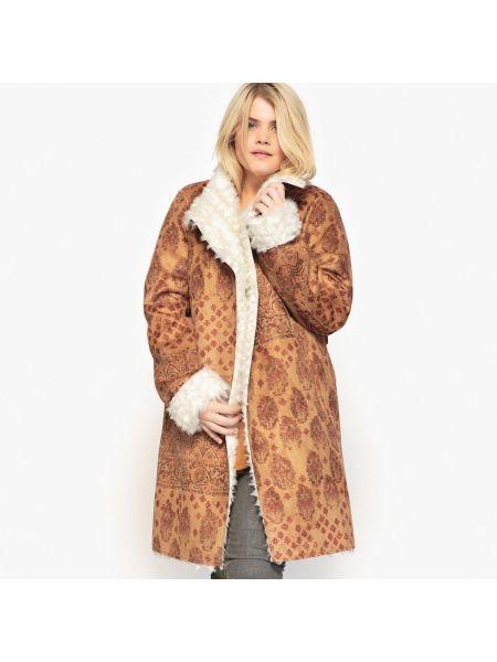 Кожаное пальто с воротником с карманами Castaluna