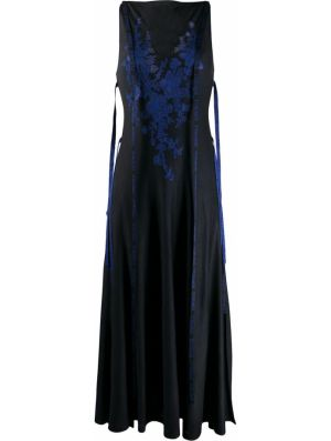 Czarna sukienka rozkloszowana koronkowa Loewe