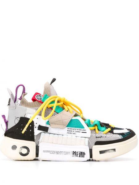 Wysoki sneakersy białe tekstylne Li-ning