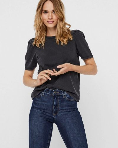 Черная футболка с короткими рукавами Noisy May