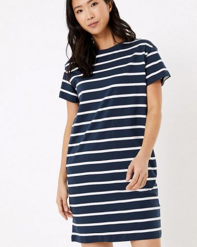 С рукавами синее платье Marks & Spencer