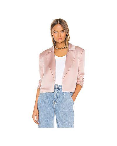 Открытый сатиновый пиджак с карманами на пуговицах Grlfrnd