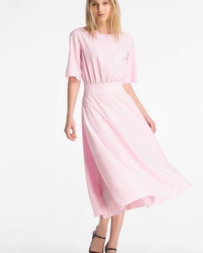 Платье миди весеннее розовое Grass