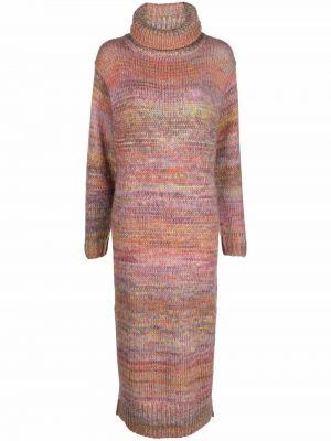 Розовое платье из мохера Mes Demoiselles