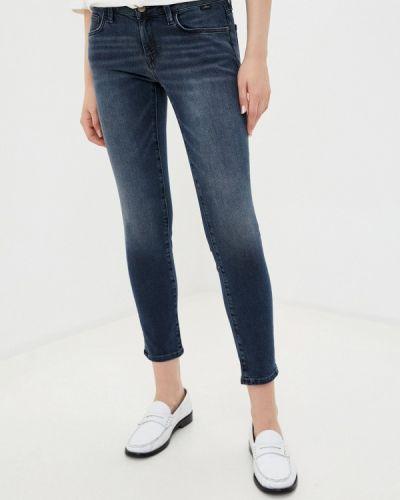 Серые джинсы-скинни узкого кроя Mavi