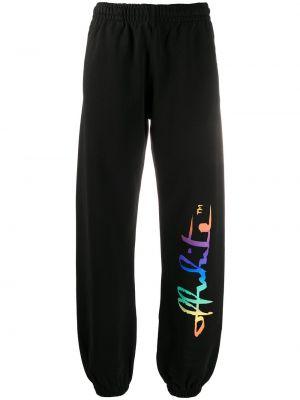 Bawełna bawełna czarny joggery Off-white