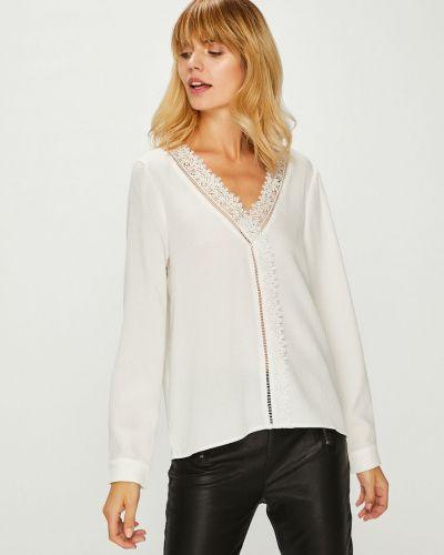 Блузка однотонная с V-образным вырезом Answear