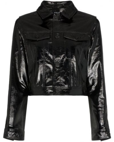 Черная короткая куртка с манжетами Ksubi