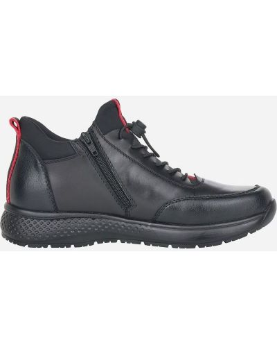 Кожаные ботинки - черные Rieker