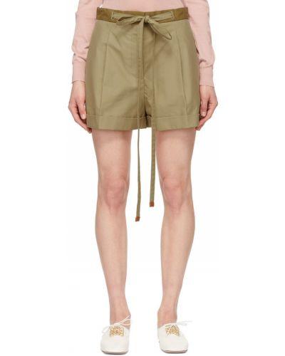 Бежевые шорты с карманами Loewe