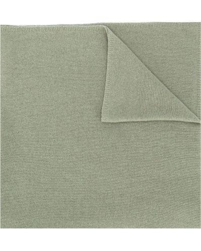 Вязаный зеленый кашемировый шарф вязаный в рубчик Liska