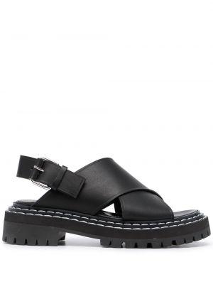 Sandały skórzane - czarne Proenza Schouler