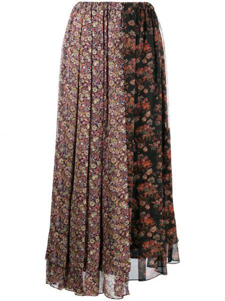Trykotowy spódnica asymetryczny z nadrukiem Junya Watanabe