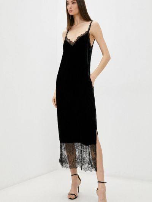 Платье-комбинация - черное Twinset Milano