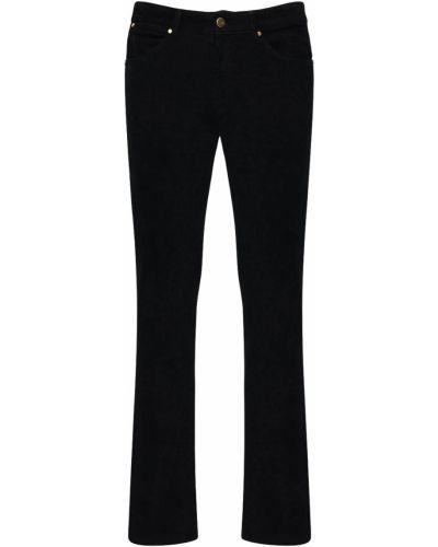 Czarne spodnie z aksamitu Pantaloni Torino