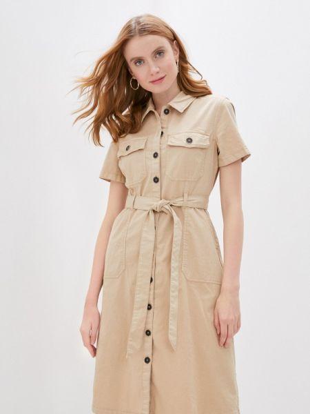 Платье платье-рубашка бежевое S.oliver