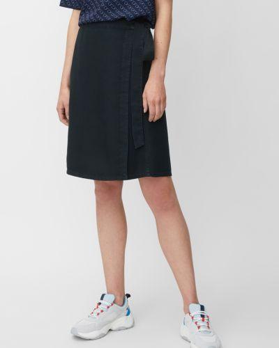 Синяя юбка с запахом с карманами Marc O' Polo