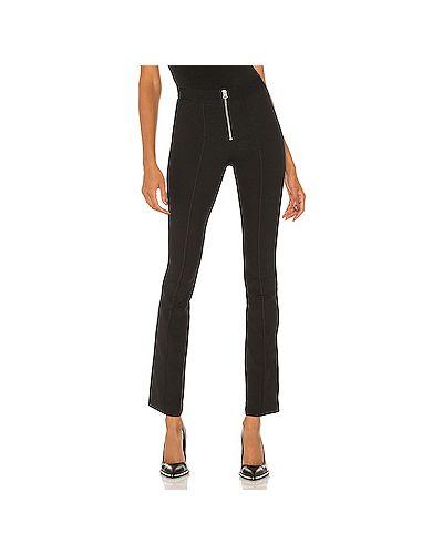 Хлопковые черные брюки на резинке с поясом Rag & Bone