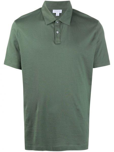 Классическая прямая рубашка с короткими рукавами с воротником на пуговицах Sunspel