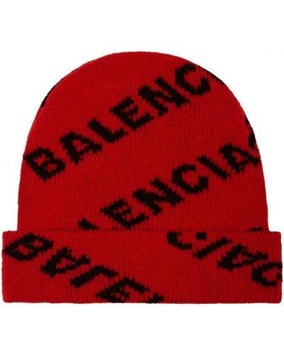 Шапка с отворотом в полоску Balenciaga