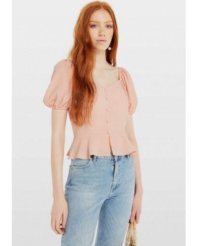 Блузка с коротким рукавом розовая осенняя Miss Selfridge