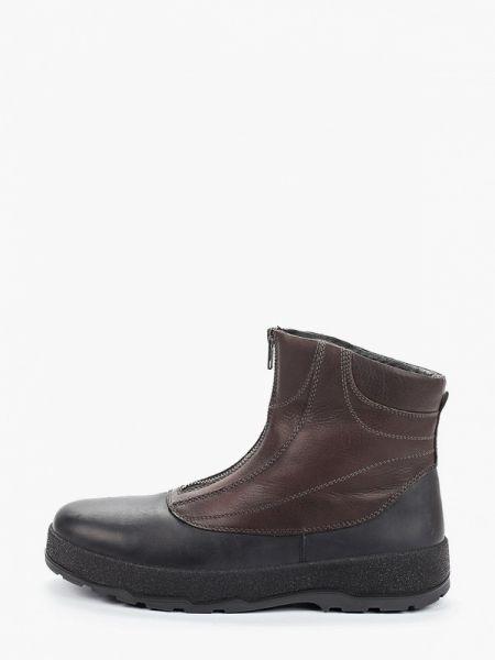 Коричневые кожаные ботинки осенние Ralf Ringer