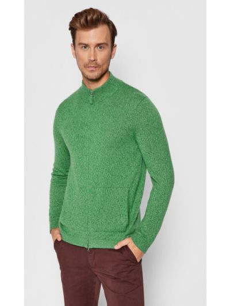 Kardigan - zielony United Colors Of Benetton