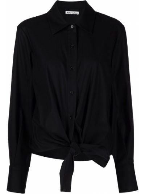 Рубашка с длинным рукавом - черная Reformation
