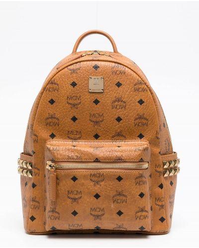 Рюкзак с заклепками - коричневый Mcm