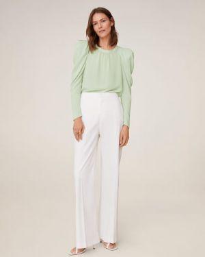 Блузка с длинным рукавом длинная легкая Mango