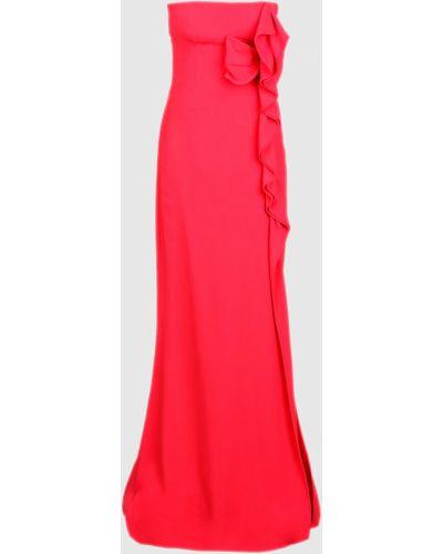 Красное платье макси Valentino