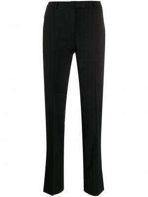 Черные со стрелками деловые укороченные брюки из мохера Prada Pre-owned