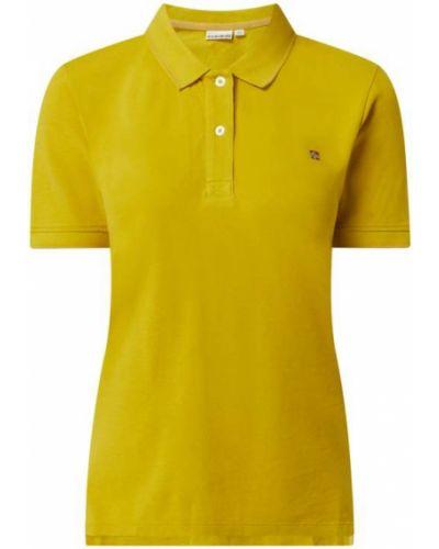 T-shirt bawełniana - żółta Napapijri